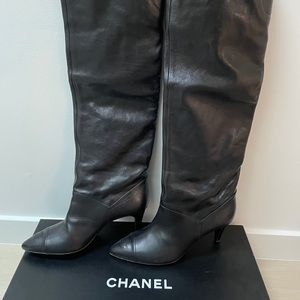 Chanel over the knee boots new with tags